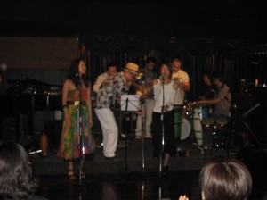 The very capable and lively latin band-we made friends with them, and they told us to come back any Saturday!
