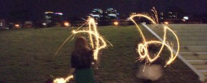 birthday sparklers with marisa