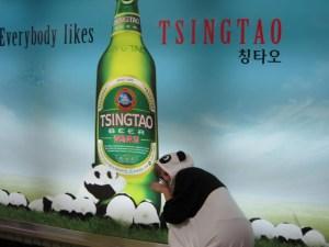 with my panda family